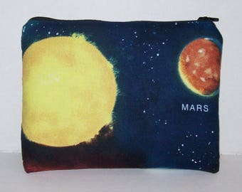 "Pipe Pouch, Astronomy Bag, Pipe Case, Space, Pipe Bag, Zipper Bag, Padded Pipe Pouch, Hippie, Stoner Gifts, Gadget Bag, 7.5"" x 6"" - X LARGE"