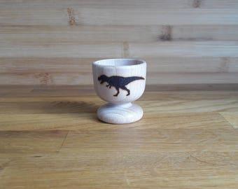 T-Rex Wooden Egg Cup