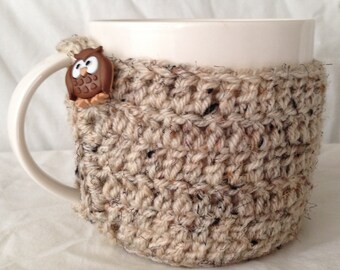Owl Mug Cozy and Coster