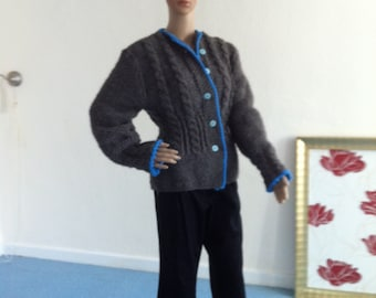 Jacket, women, wool, hand knitted, traditional costumes, folklore