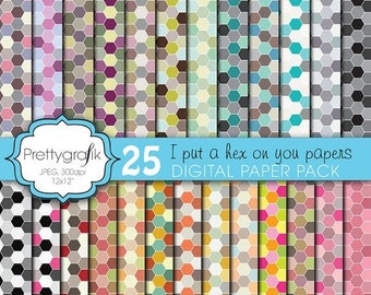 80% OFF SALE honeycomb hexagonal digital paper, commercial use, scrapbook papers, background  - PS601