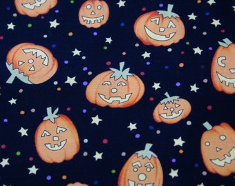 "2 1/8 Yds x 44"" Wide ""Boo-Ville pumpkin"" Cotton Fabric by Alexander Henry Fabrics Collection"