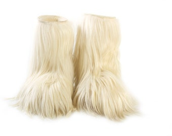 Goat Fur Boots by Apres Ski Boots Italian Oscar Fur Muklucks Sherpa Woman's Shaggy Size 39 Yeti Modes Power After Ski Boots Winter Boots