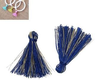 20 charms 25mm - dark blue - SC64863 - Polyester fringe tassels
