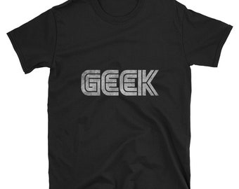 Geek Black Vintage T Shirt