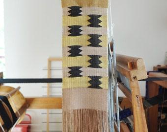Handwoven wall hanging/ Weaving/ Cotton & Linen