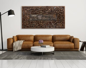 Wood wall art of Central Park, New york, Made from old barnwood, Large wall art, Large art, wood wall sculpture