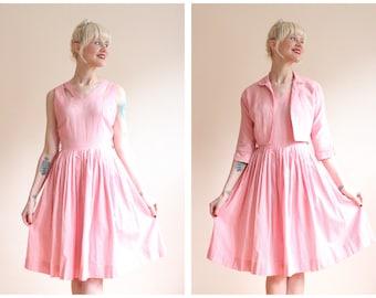 1950s Dress // Maxwell Originals Gingham Dress & Jacket // vintage 50s dress