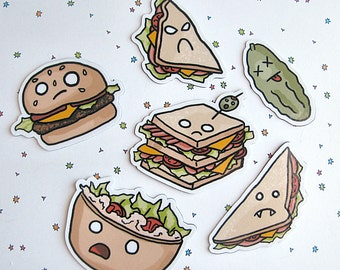 Cute Food Magnet Set Refrigerator Magnet Sandwiches Fridge Magnet  Kawaii Cubicle Decor Kawaii Magnet Kawaii Faces Funny Sandwich Magnets