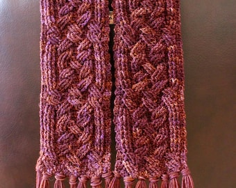 Crochet Scarf Pattern, Inveraray Cable Braided Scarf Crochet Pattern for Women and Men Celtic Aran Crochet