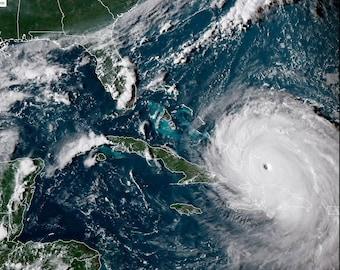 Hurricane Irma Nears Florida as a Category 5 September 2017 - 5X7, 8X10 or 11X14 Photo (FB-187)