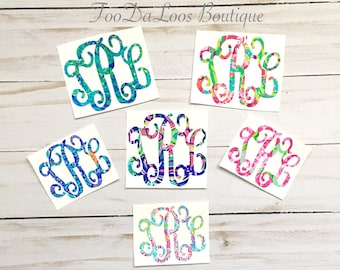 Initial, Monogrammed, Monogram, Decal, Sticker