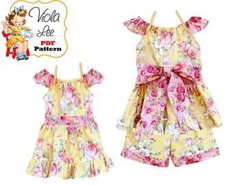 Girls Flutter Sleeve Peasant Dress, Top Pattern. Toddler Dress Pattern. Girl Dress Pattern. pdf Sewing Pattern. Summer Dress pattern. Kristy