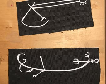 Punk Screenprinted Iceland Viking Norse Runic Witch Magical Staves Galdrastafur