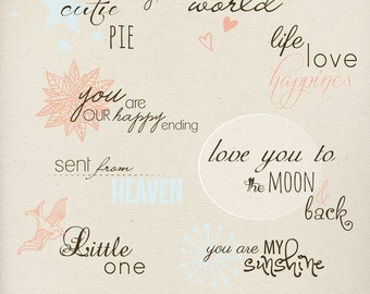 INSTANT DOWNLOAD - Photography Words Overlays (8) - 8pcs