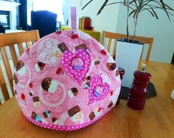 Quilted tea cozy, floral tea cozy, tea time, tea pot cozy, ready to ship, handmade, housewarming gift, wedding present, gift idea, homewares