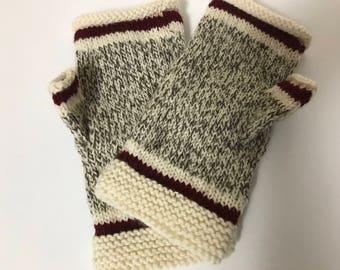 Sock Monkey Fingerless Gloves