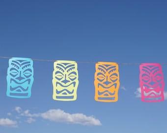 Tiki Party Garland   Luau Party Banner