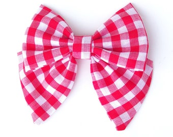 Red and white buffalo check