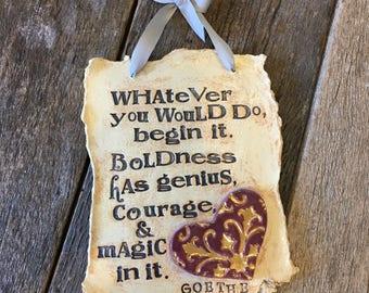 Goethe Quote Poetry Plaque
