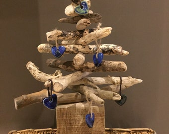 1ft square base driftwood christmas tree