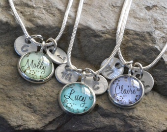 3 best friend necklaces, 3  friendship necklace, personalized name friendship necklaces