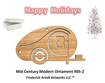 905-2 Mid Century Modern Christmas Ornament