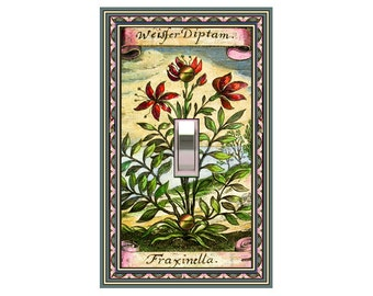 0572X - Fraxinella Botanical - mrs butler switch plate covers -