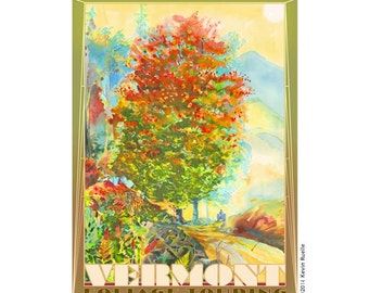 Vermont Foliage Travel Poster