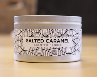 Salted Caramel 8oz Soy Candle with Wood Wick