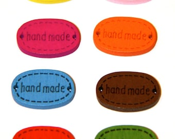 """LOT 5 APPLIQUES TO SEW """"HAND MADE"""""""