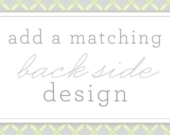 Matching Back Side Design