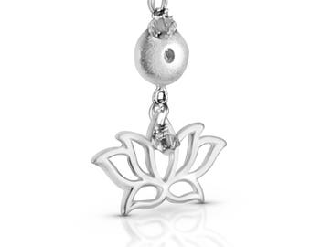 SILVER * Lotus Flower Necklace