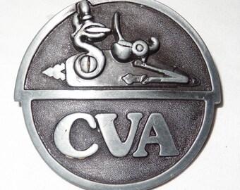 Vintage 1978 CVA Connecticut Valley Arms, Inc., Pewter Belt Buckle