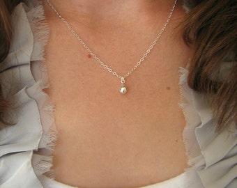 Silver Teardrop Necklace, Silver Drop Necklace, Sterling Silver Necklace, Everyday Silver Necklace, Minimal, Minimalist Necklace, Sterling