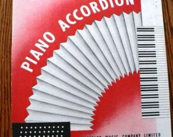 vintage music  ... PIANO ACCORDION sheet  vintage music book  ...