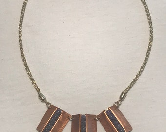 Amethyst Sheild Necklace