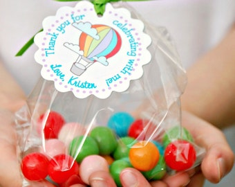 The Vintage Hot Air Balloon Collection - Fantastic Favor Tags with Bags from Mary Had a Little Party