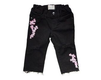 Girls Distressed Denim, Girls Painted Jeans, Girls Skinny Jeans, Girls Distressed Jeans, Painted Jeans, Girls Denim, Jeans, Painted Denim