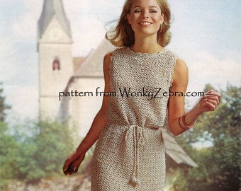Vintage Summer Breeze Crochet DRESS Pattern PDF 709 from WonkyZebra