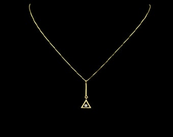 THE GOLDEN SECTION | 18ct Gold Diamond necklace Free shipping worldwide