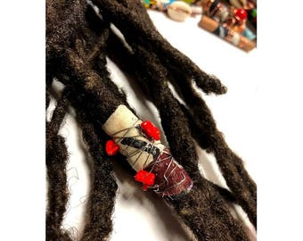 Fabric Bead Loc Jewelry Dreadlock #2