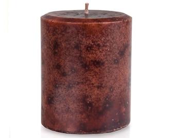 JenSan Sandalwood Candle Pillar, 14 ounces - 397 grams