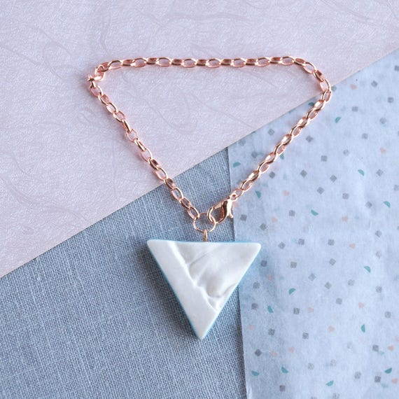 RUCHED No21 geometric triangle bracelet