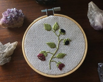 Belladonna Embroidery. Magical Poison. Deadly Flora.