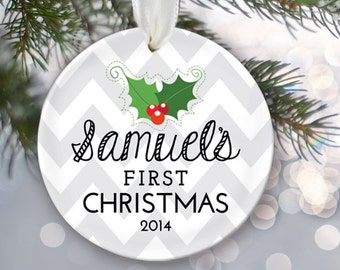 Personalized Baby's First Christmas Ornament Baby Shower Gift My 1st Christmas New Baby Keepsake Christmas Gift Newborn Ornament OR163