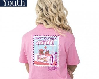 Simply Southern® YTH-PREPPYPEACH-FLAMINGO