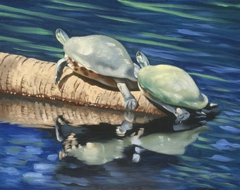Turtles 11 x 17 print (image 10.5 x 14.25)  by artist RUSTY RUST / T-51-P