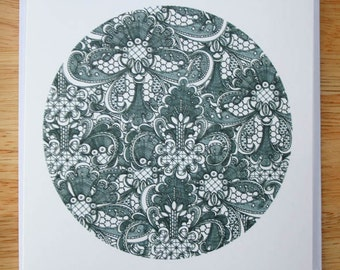 Lace design 8 blank greeting card