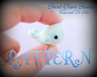 Franny the Micro Amigurumi Whale PATTERN ENG, Micro Crochet Pattern, Pattern Whale Miniature, English pattern, Tutorial, Instructions doll